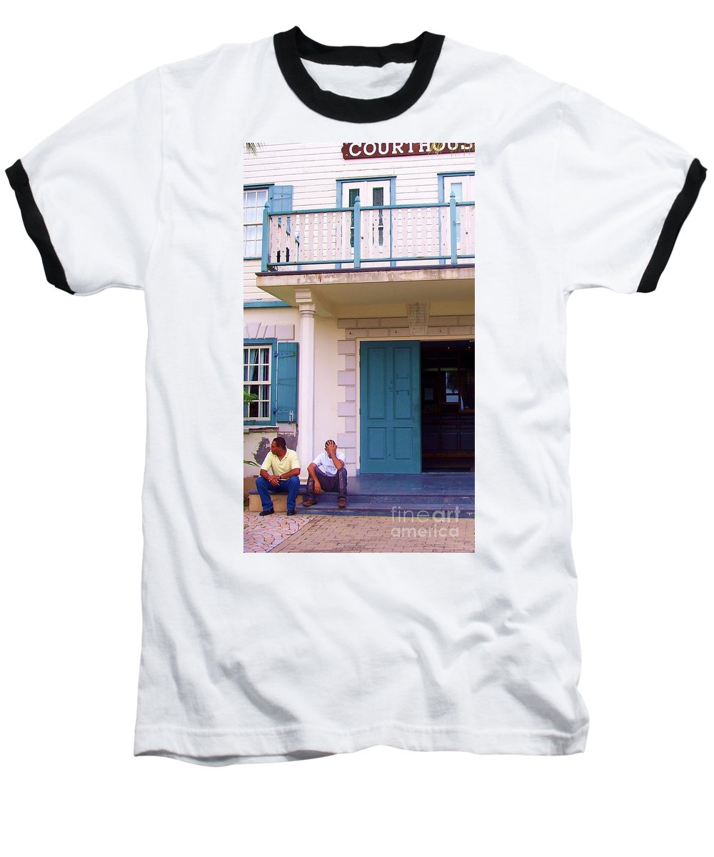 Building Baseball T-Shirt featuring the photograph Bad Day In Court by Debbi Granruth