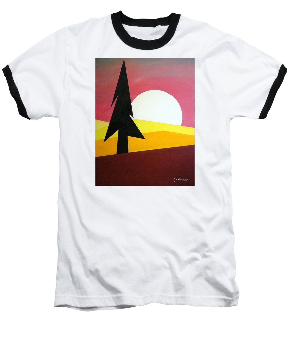 Phases Of The Moon Baseball T-Shirt featuring the painting Bad Moon Rising by J R Seymour