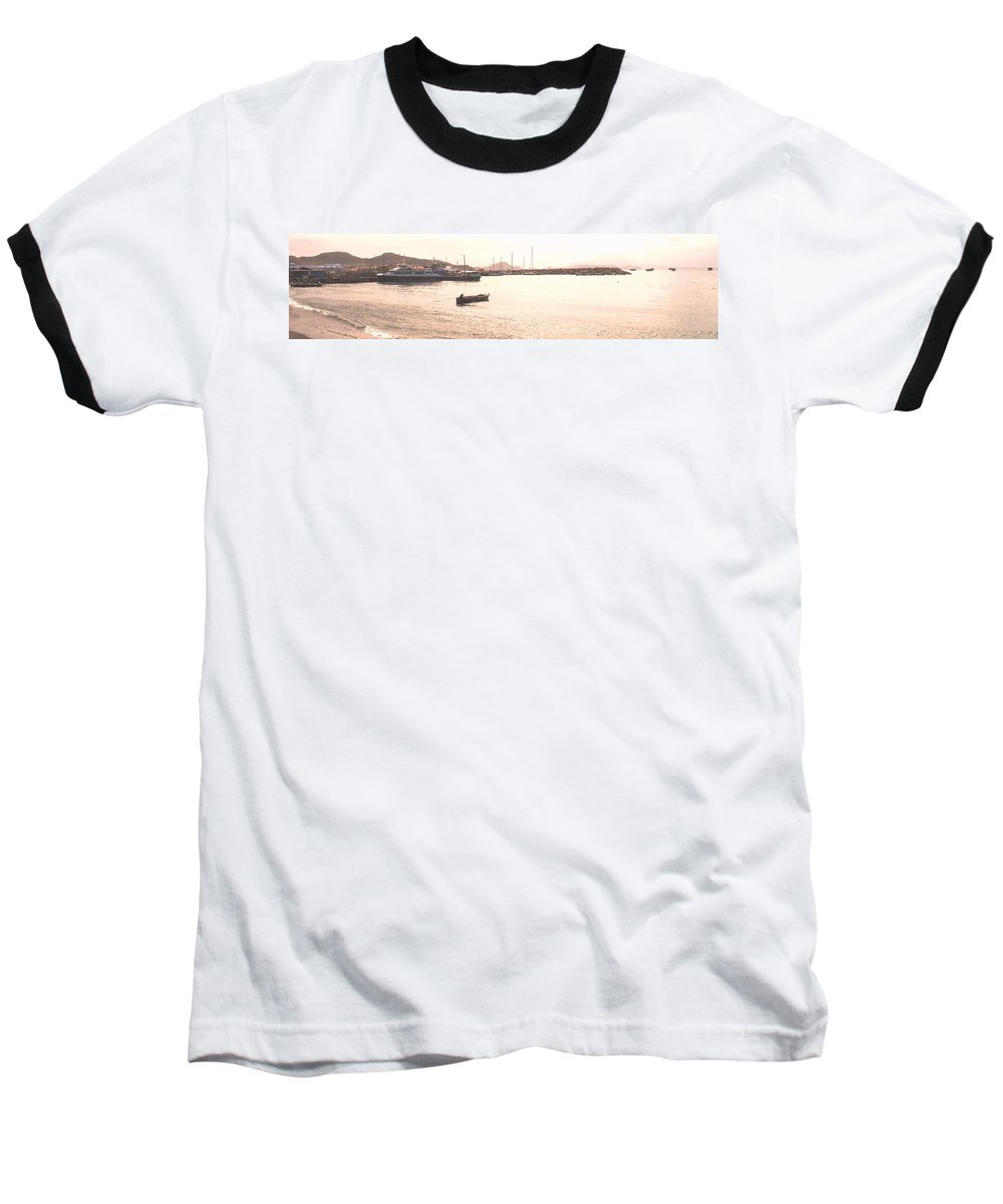 St Kitts Baseball T-Shirt featuring the photograph Basseterre Harbour by Ian MacDonald