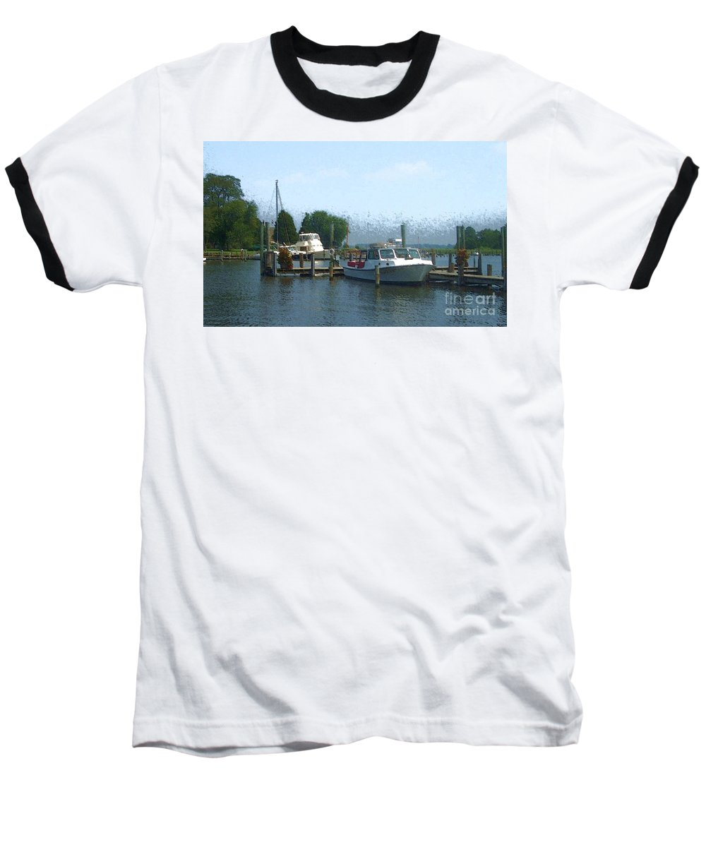 Boat Baseball T-Shirt featuring the photograph Beached Buoys by Debbi Granruth