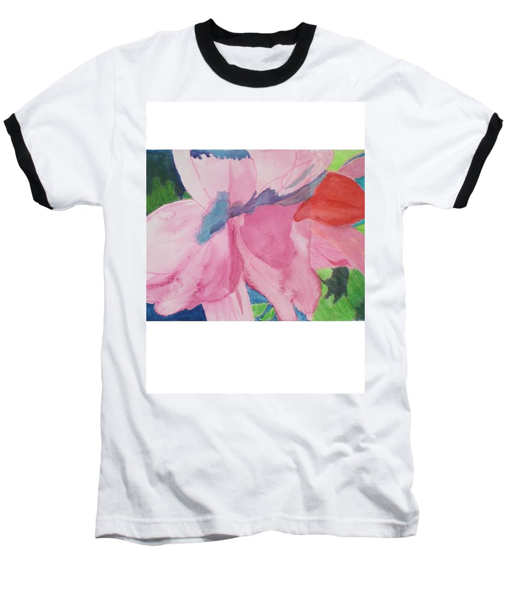 Flower Baseball T-Shirt featuring the painting Beautiful Azalea by Hal Newhouser