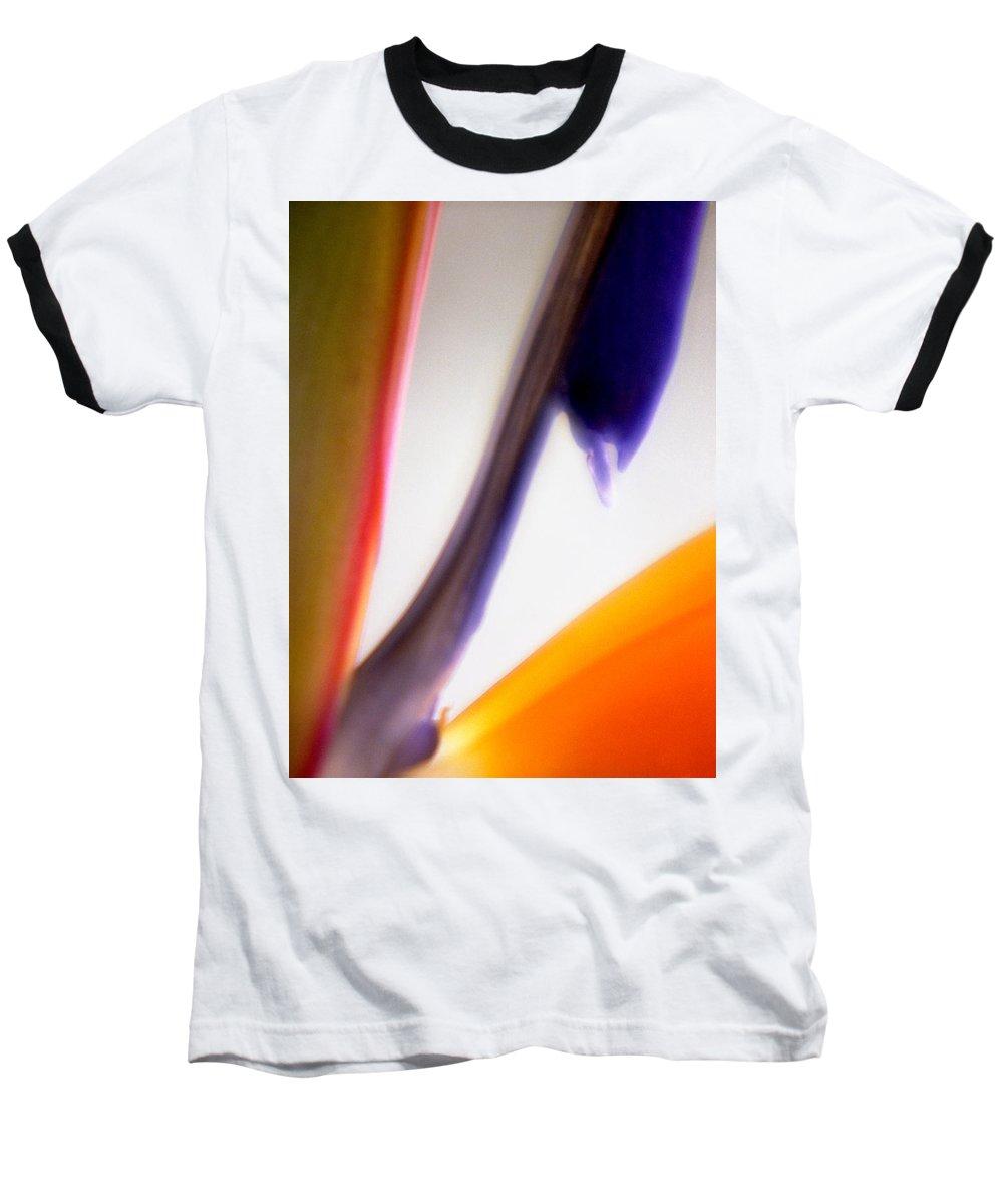 Macro Baseball T-Shirt featuring the photograph Bird Of Paradise by Lee Santa