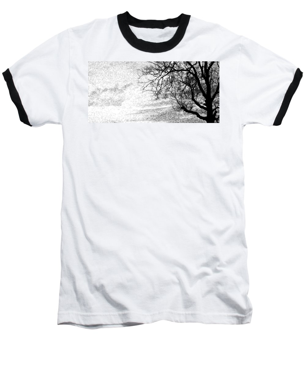 Sky Baseball T-Shirt featuring the photograph Black Rain by Ed Smith