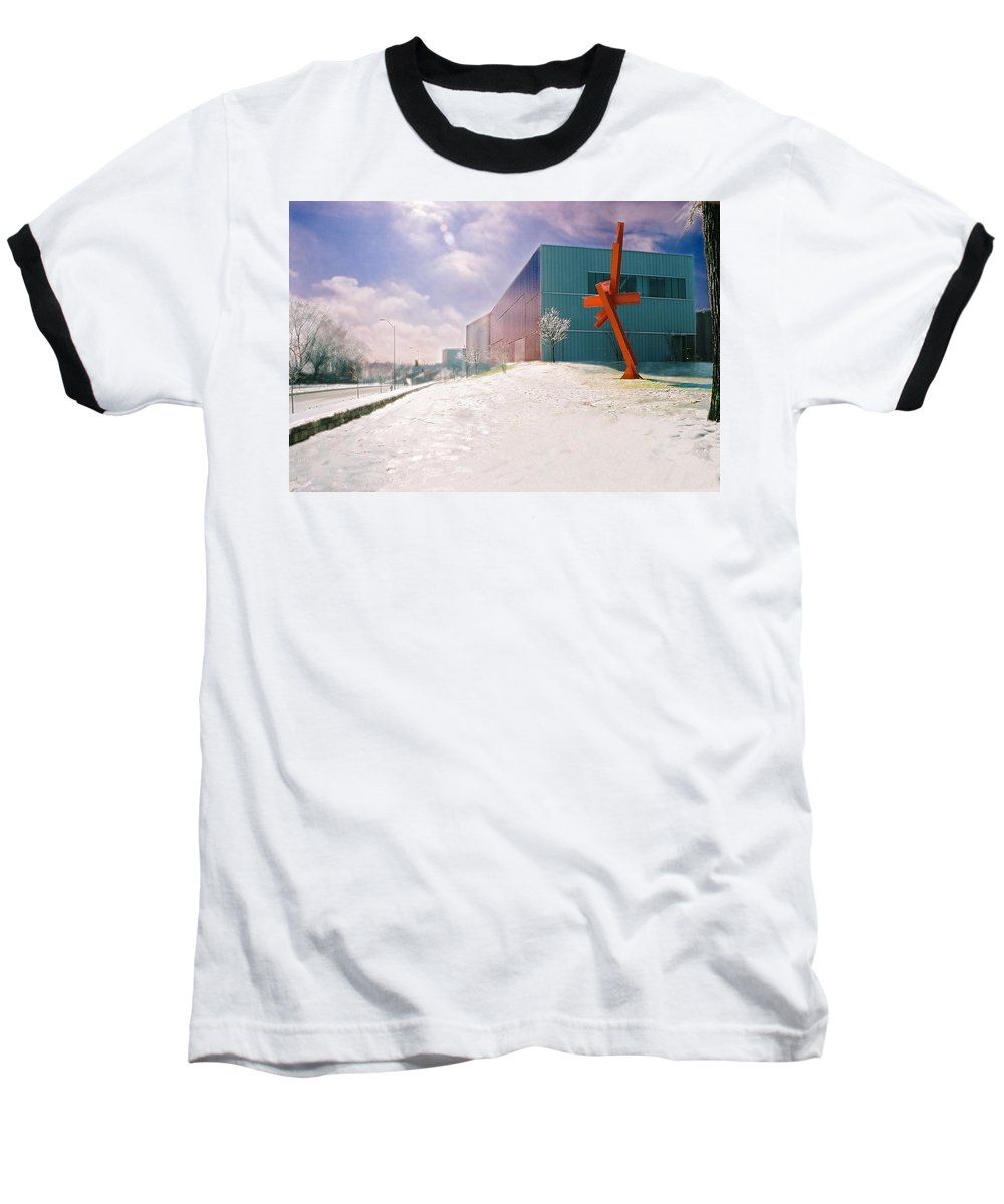 Landscape Baseball T-Shirt featuring the photograph Bloch Building At The Nelson Atkins Museum by Steve Karol