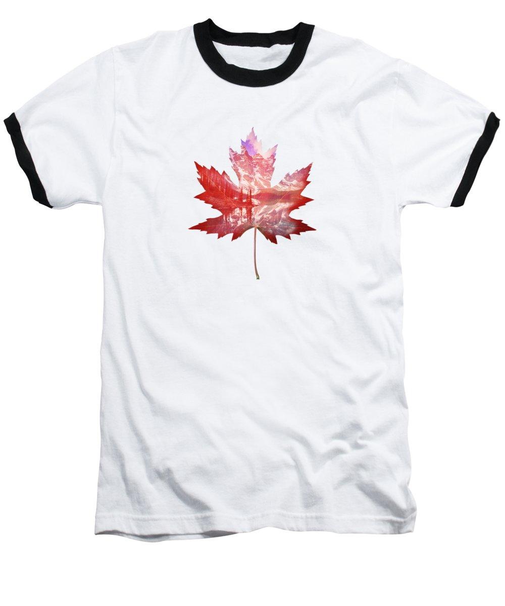 Maple Leaf Art Baseball T-Shirts