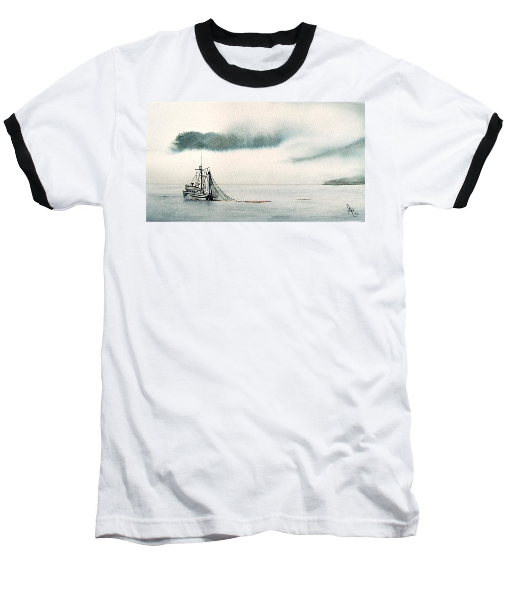 Fishing Boat Baseball T-Shirt featuring the painting Catch Of The Day by Gale Cochran-Smith
