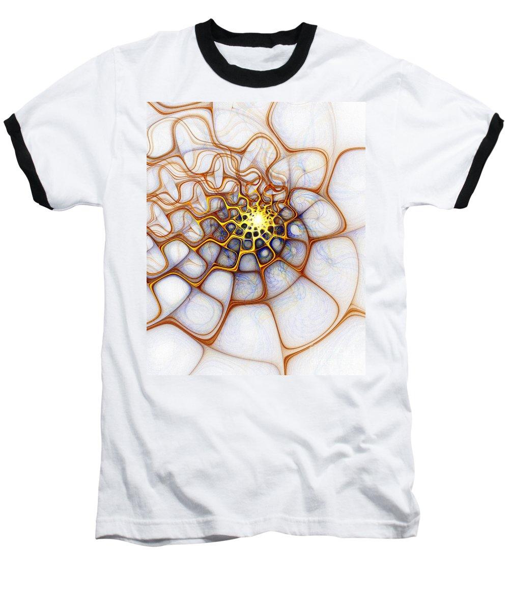 Digital Art Baseball T-Shirt featuring the digital art Charlotte's Web by Amanda Moore