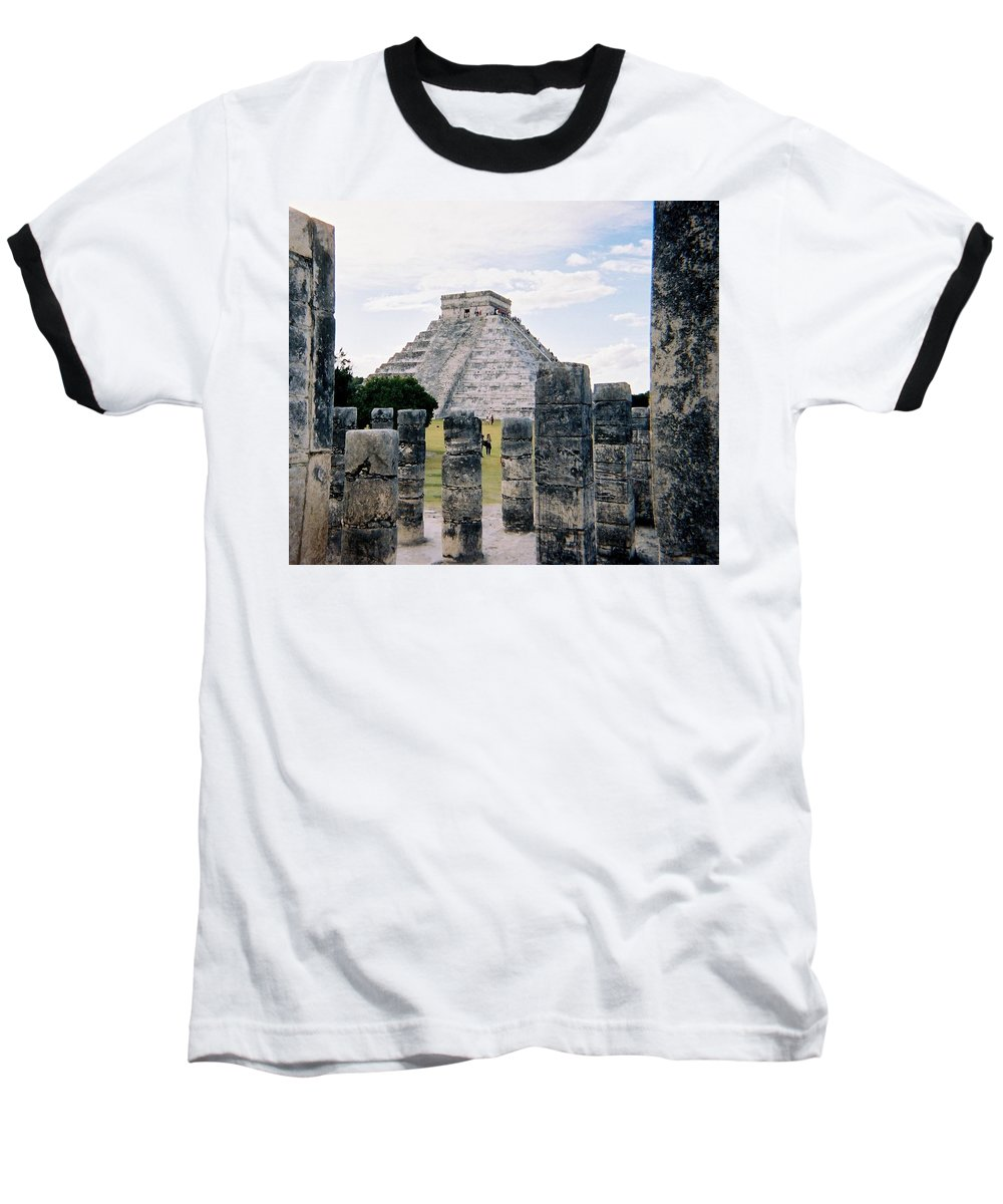 Chitchen Itza Baseball T-Shirt featuring the photograph Chichen Itza 3 by Anita Burgermeister