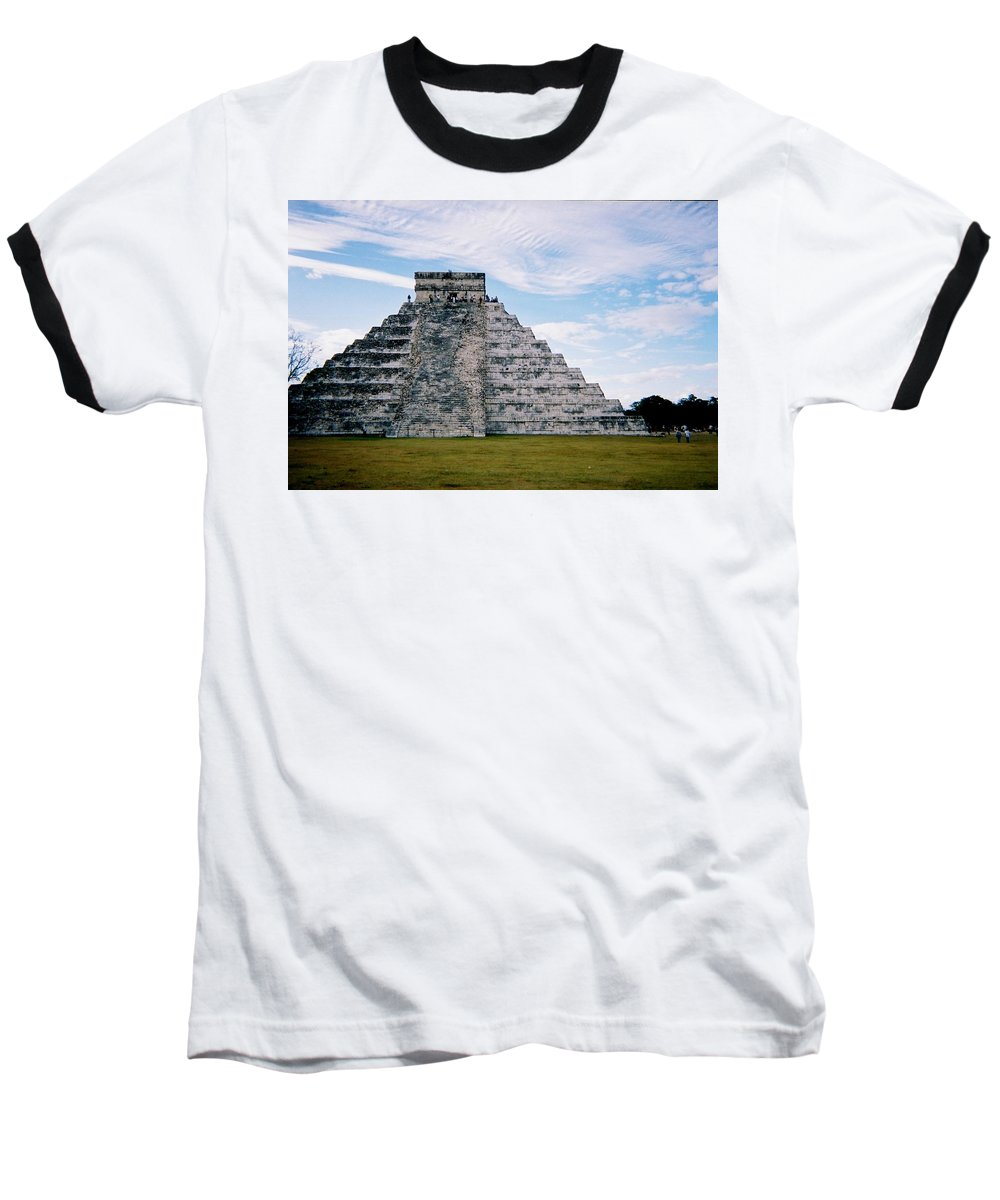Chitchen Itza Baseball T-Shirt featuring the photograph Chichen Itza 4 by Anita Burgermeister