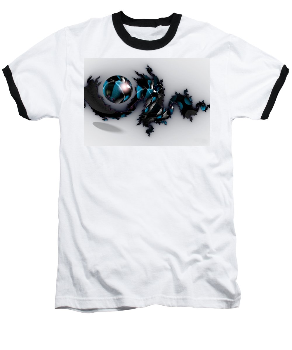 China Dragon Rythm Float Dance Baseball T-Shirt featuring the digital art China Dragon by Veronica Jackson