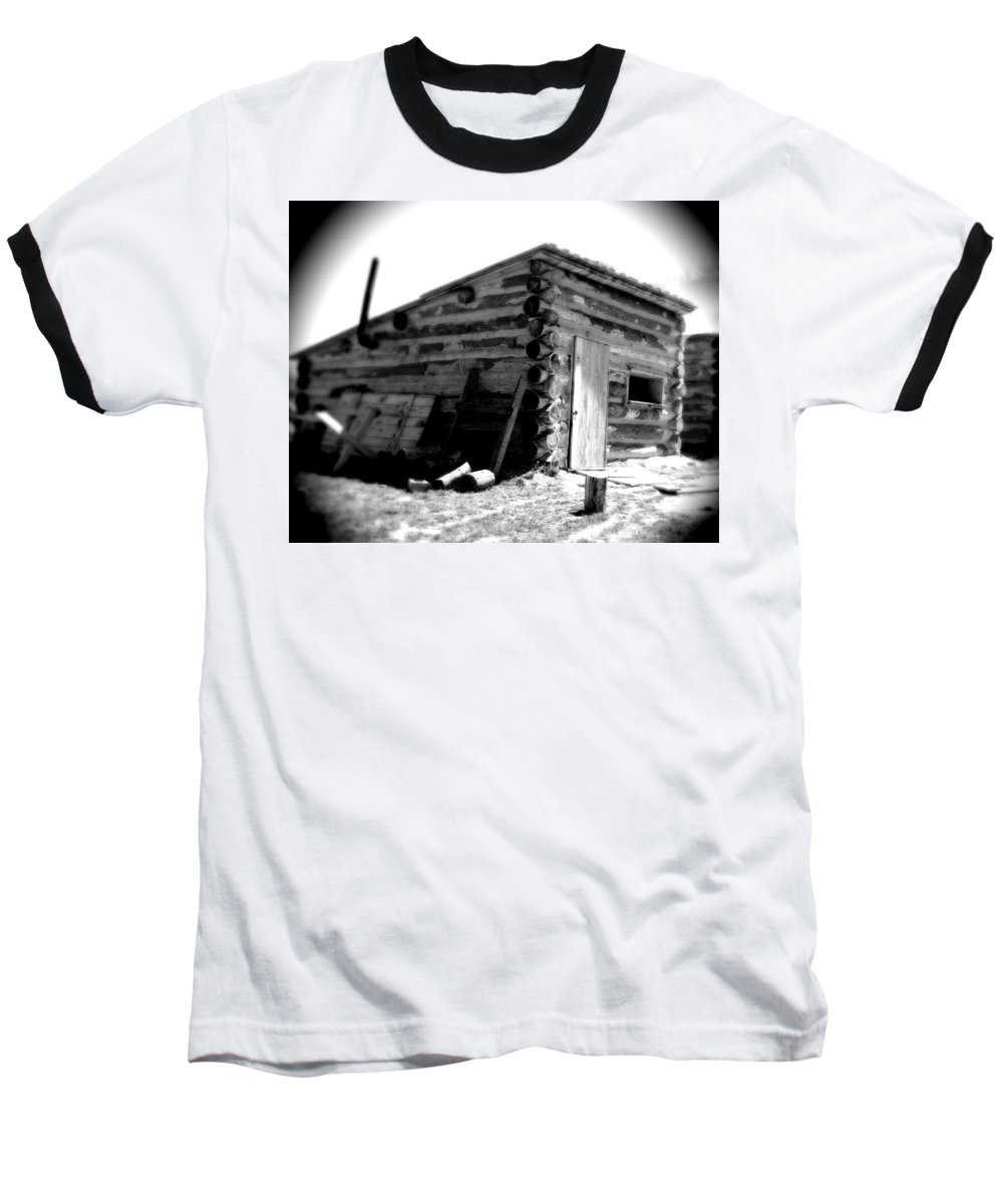 Army Baseball T-Shirt featuring the photograph Civil War Cabin 1 Army Heritage Education Center by Jean Macaluso