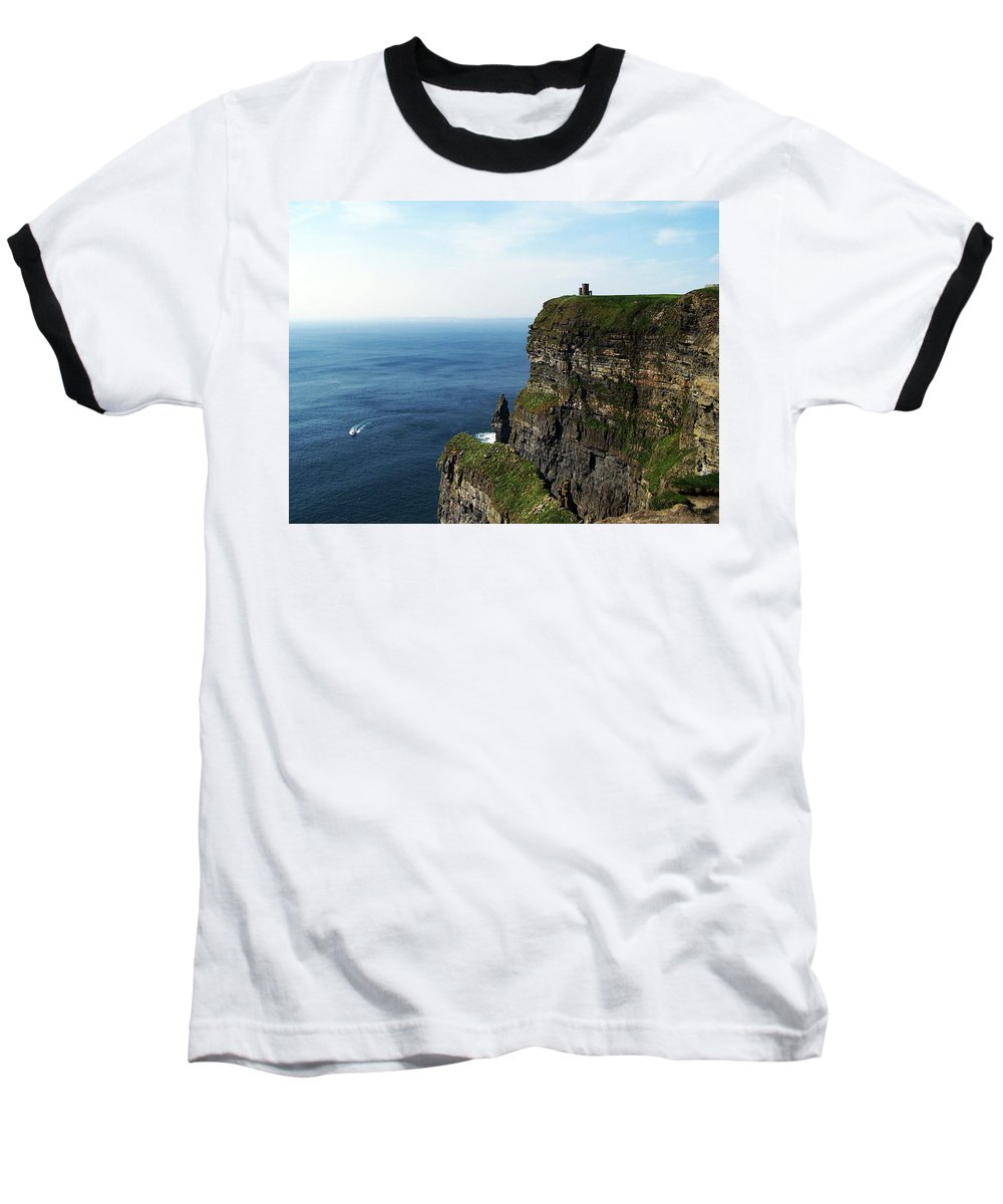 Irish Baseball T-Shirt featuring the photograph Cliffs Of Moher Ireland by Teresa Mucha