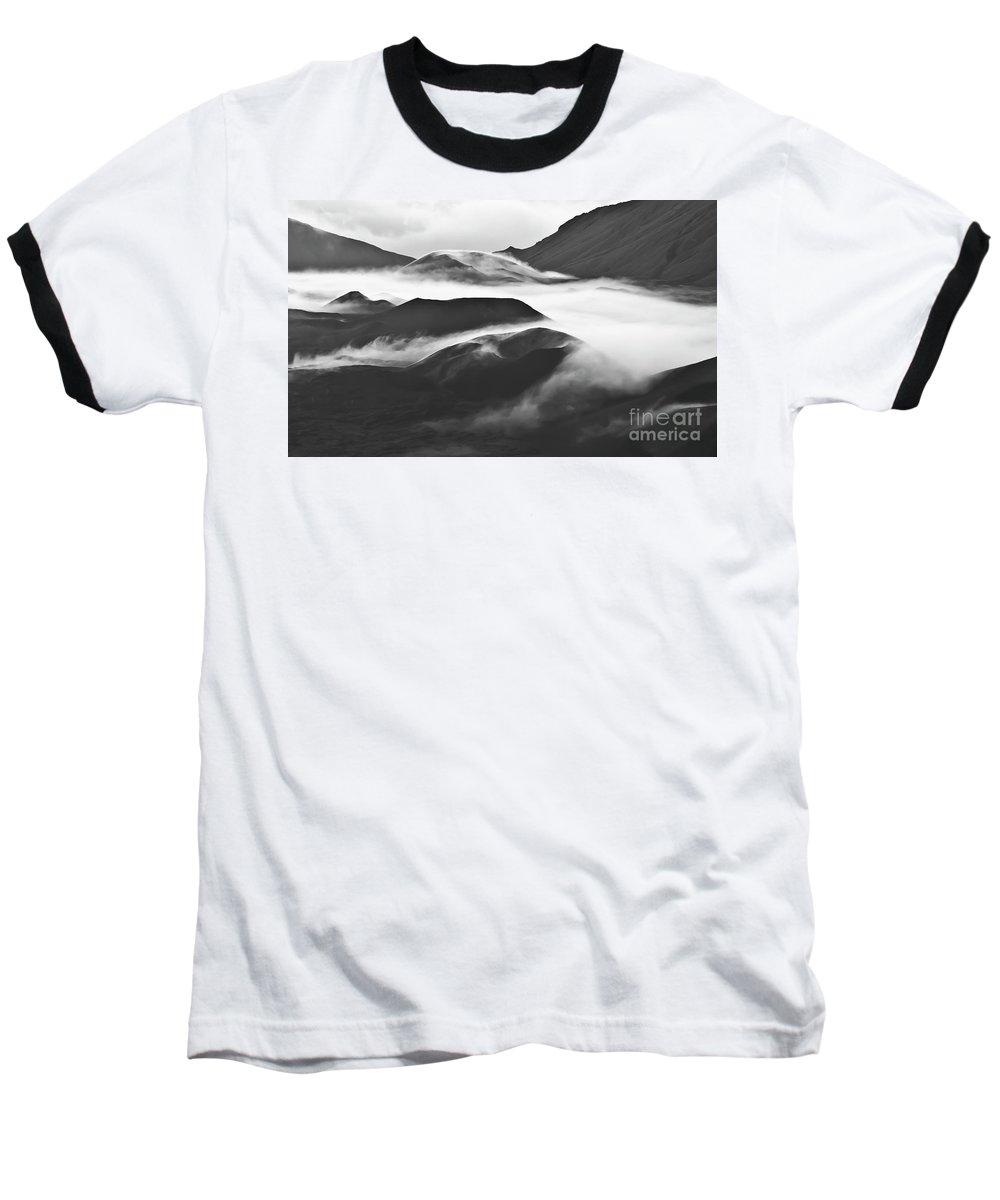 Mountains Baseball T-Shirt featuring the photograph Maui Hawaii Haleakala National Park Clouds In Haleakala Crater by Jim Cazel