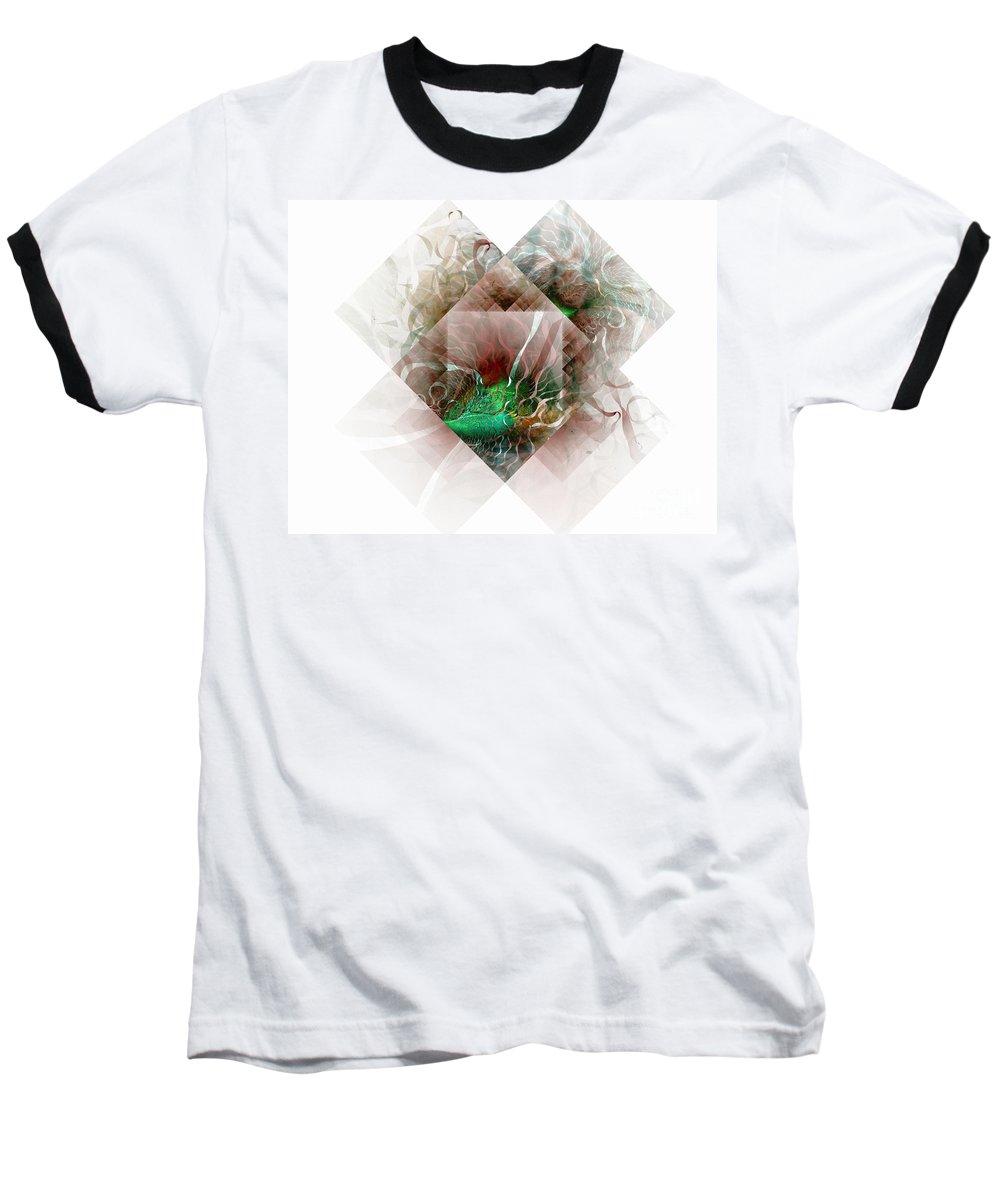 Digital Art Baseball T-Shirt featuring the digital art Coastal Memoirs by Amanda Moore
