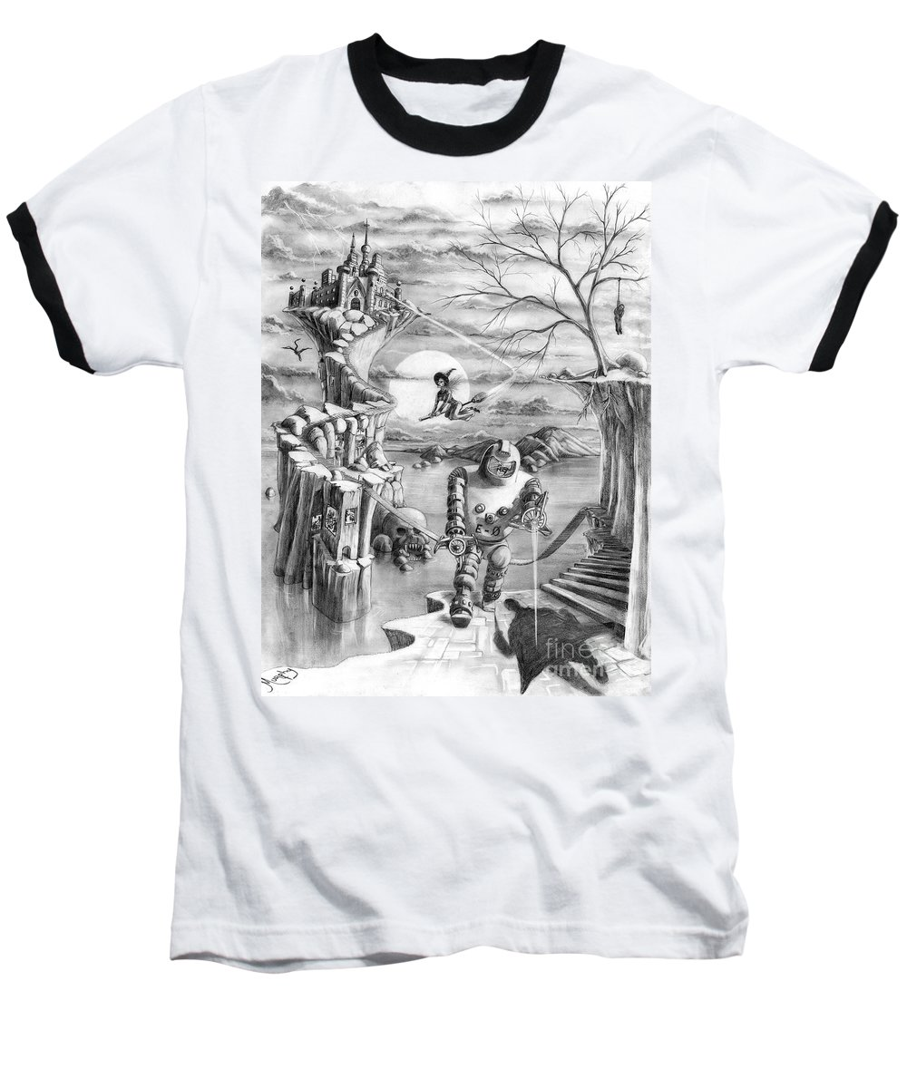 Witch Baseball T-Shirt featuring the drawing Comic Book Cover by Murphy Elliott