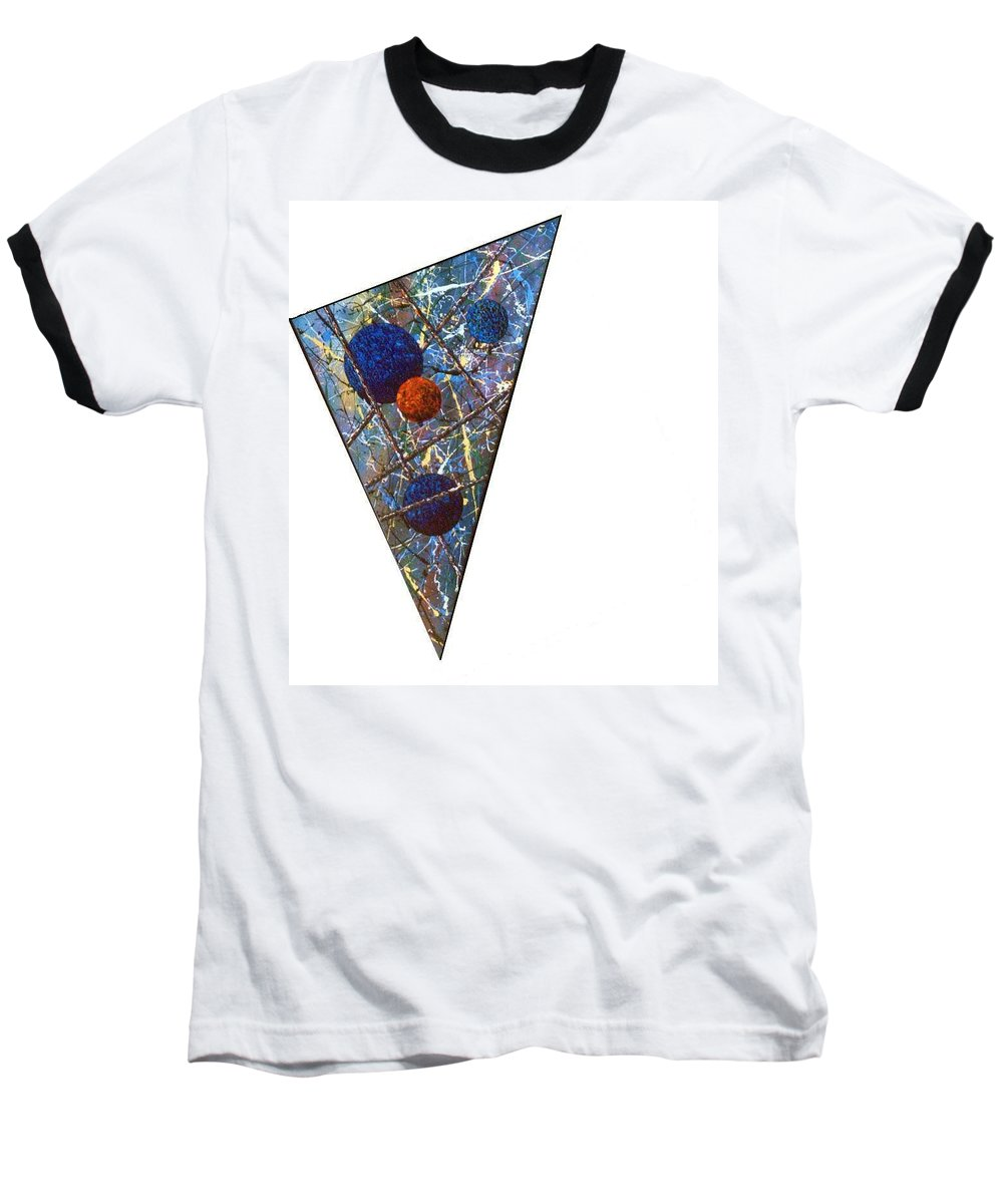 Abstract Baseball T-Shirt featuring the painting Continuum 3 by Micah Guenther