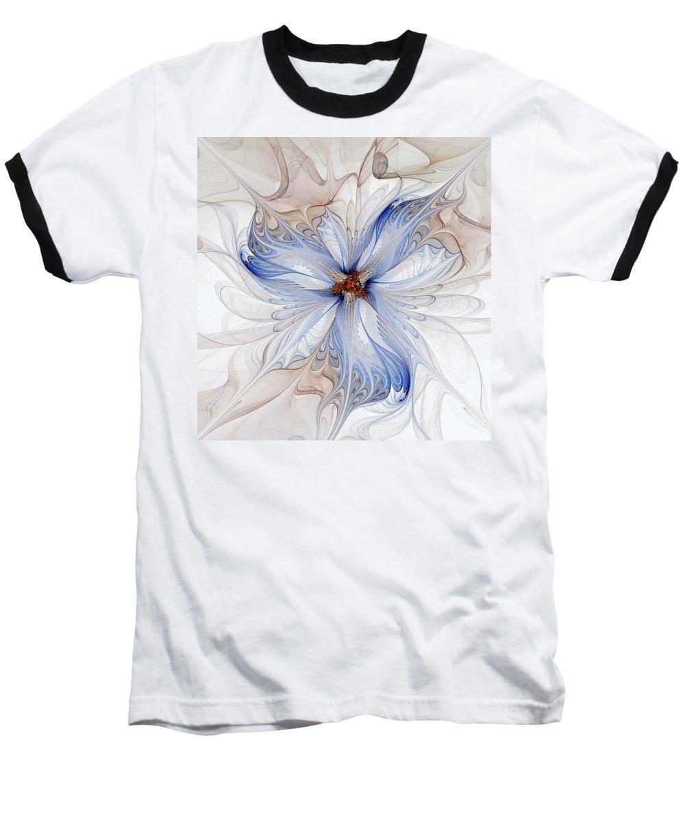Digital Art Baseball T-Shirt featuring the digital art Cornflower Blues by Amanda Moore