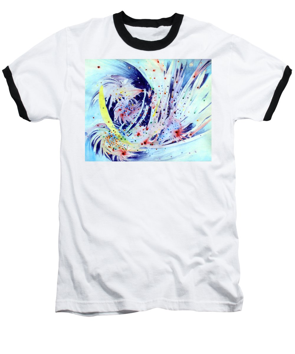 Abstract Baseball T-Shirt featuring the painting Cosmic Candy by Steve Karol