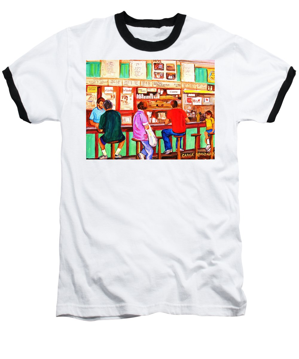 Montreal Baseball T-Shirt featuring the painting Counter Culture by Carole Spandau