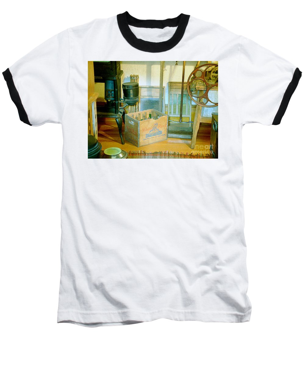 Kitchen Baseball T-Shirt featuring the painting Country Kitchen Sunshine II by RC deWinter