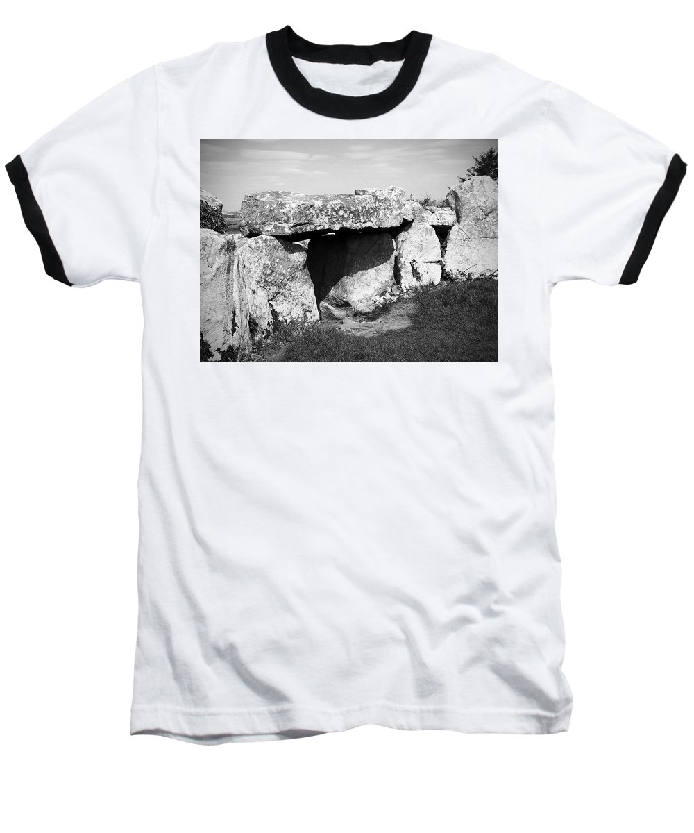 Ireland Baseball T-Shirt featuring the photograph Creevykeel Court Cairn County Sligo Ireland by Teresa Mucha