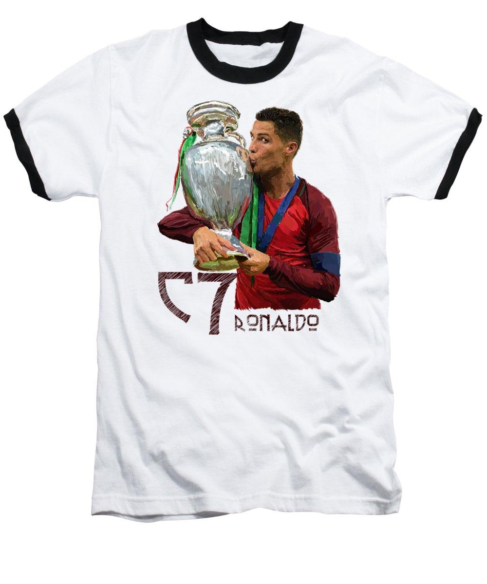 Cristiano Ronaldo Baseball T-Shirts