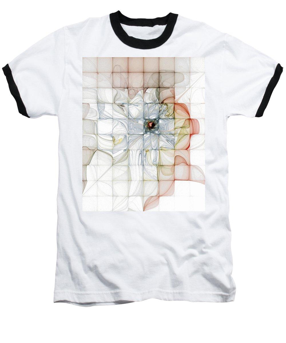 Digital Art Baseball T-Shirt featuring the digital art Cubed Pastels by Amanda Moore