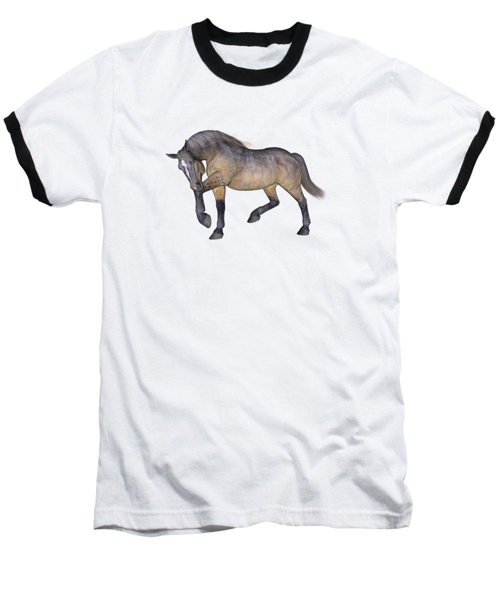 Horse Baseball T-Shirt featuring the digital art Cumberland Blues by Betsy Knapp