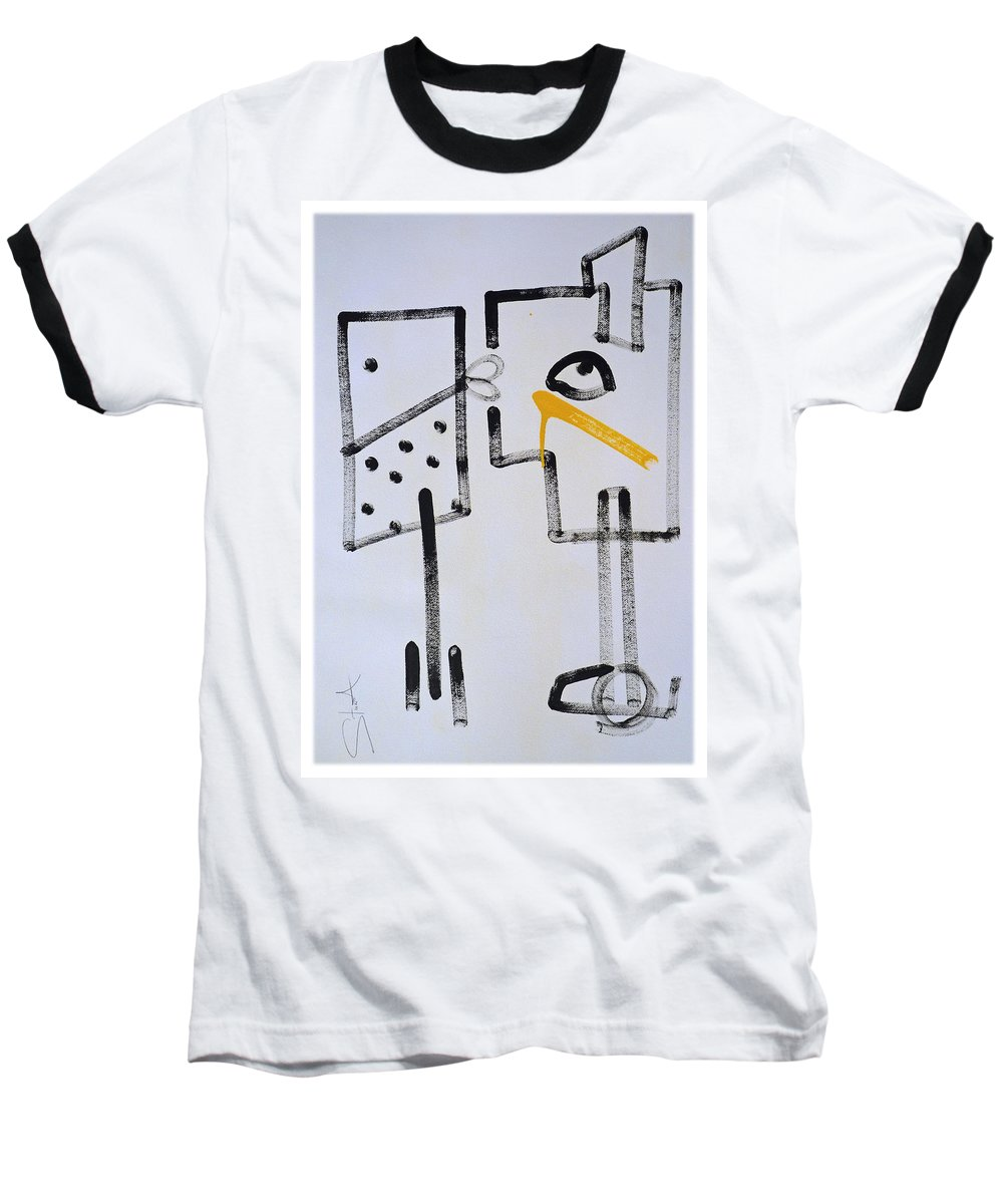 Drawing Baseball T-Shirt featuring the painting Desperados Waiting For A Train by Charles Stuart
