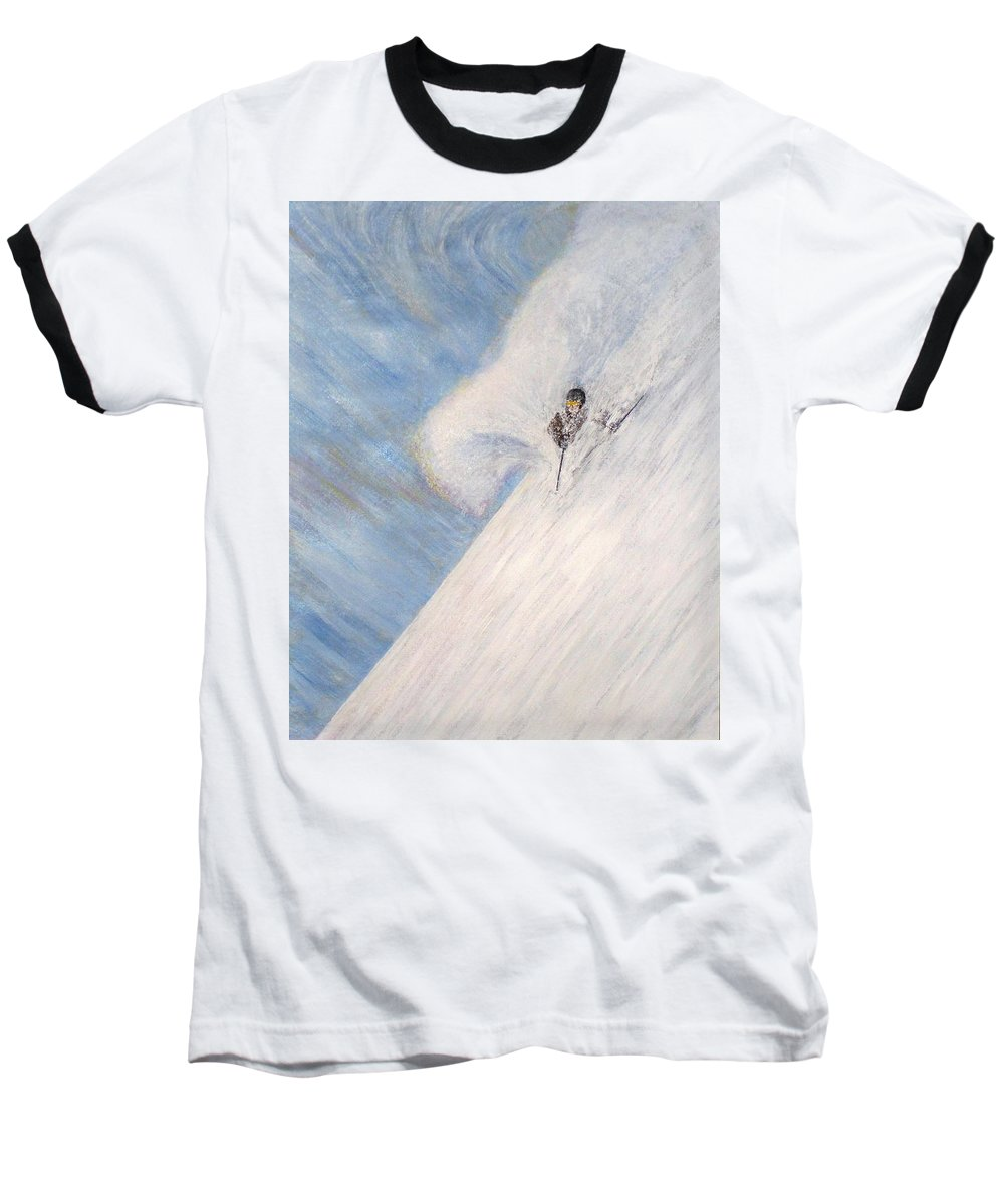 Landscape Baseball T-Shirt featuring the painting Dreamsareal by Michael Cuozzo