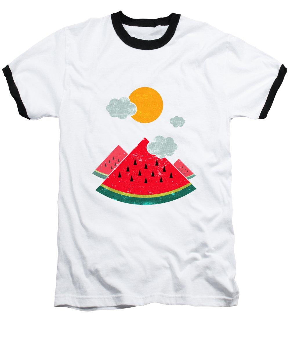 Watermelon Baseball T-Shirts