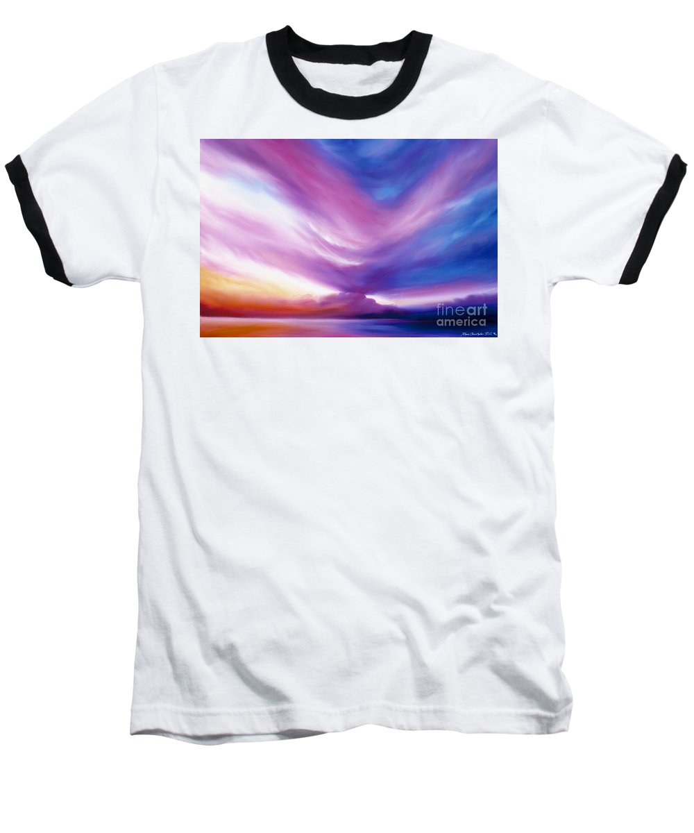 Clouds Baseball T-Shirt featuring the painting Ecstacy by James Christopher Hill