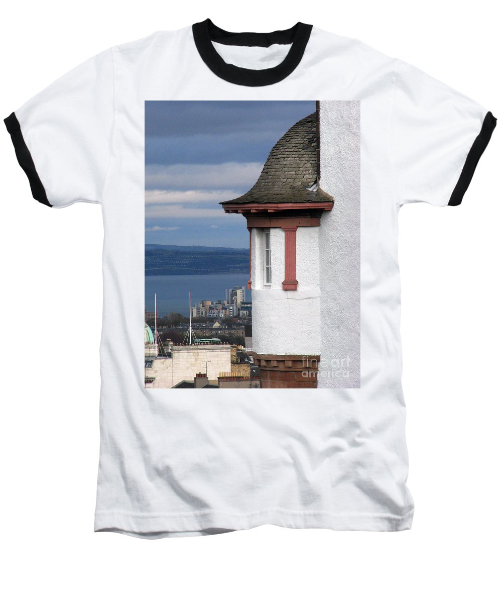 Scotland Baseball T-Shirt featuring the digital art Edinburgh Scotland by Amanda Barcon