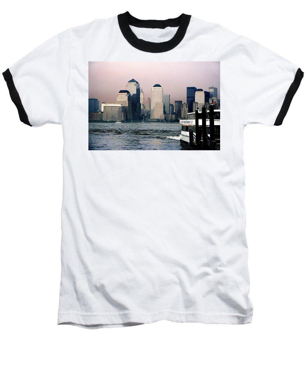 New York Baseball T-Shirt featuring the photograph Empty Sky by Steve Karol