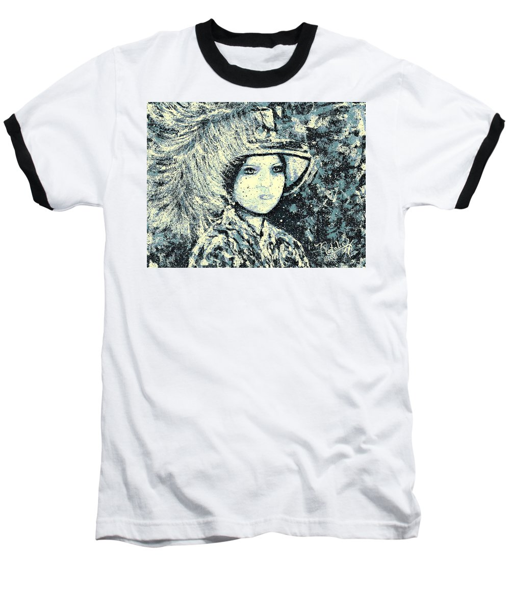 Woman Baseball T-Shirt featuring the painting Evalina by Natalie Holland