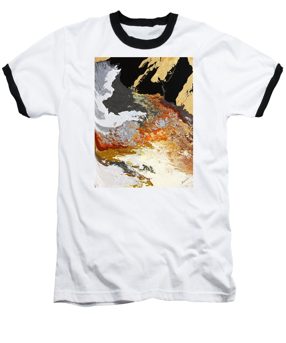 Fusionart Baseball T-Shirt featuring the painting Fathom by Ralph White
