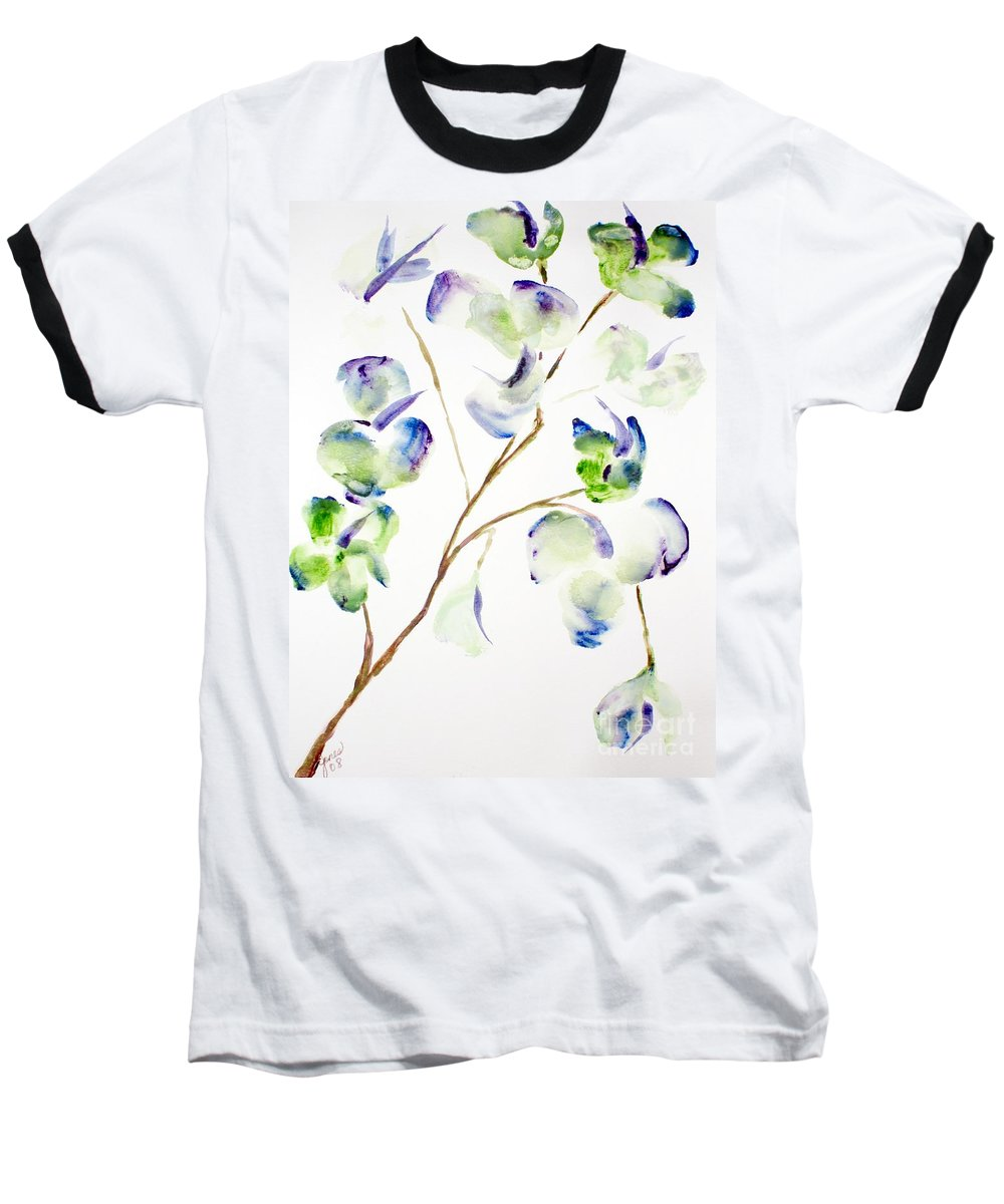 Flower Baseball T-Shirt featuring the painting Flower by Shelley Jones