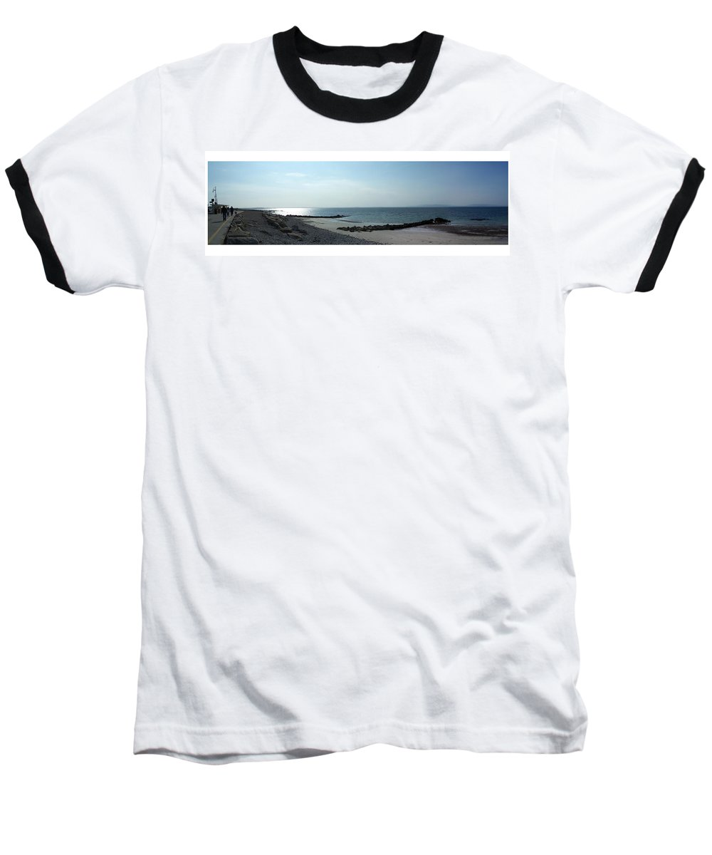 Irish Baseball T-Shirt featuring the photograph Galway Bay At Salt Hill Park Galway Ireland by Teresa Mucha