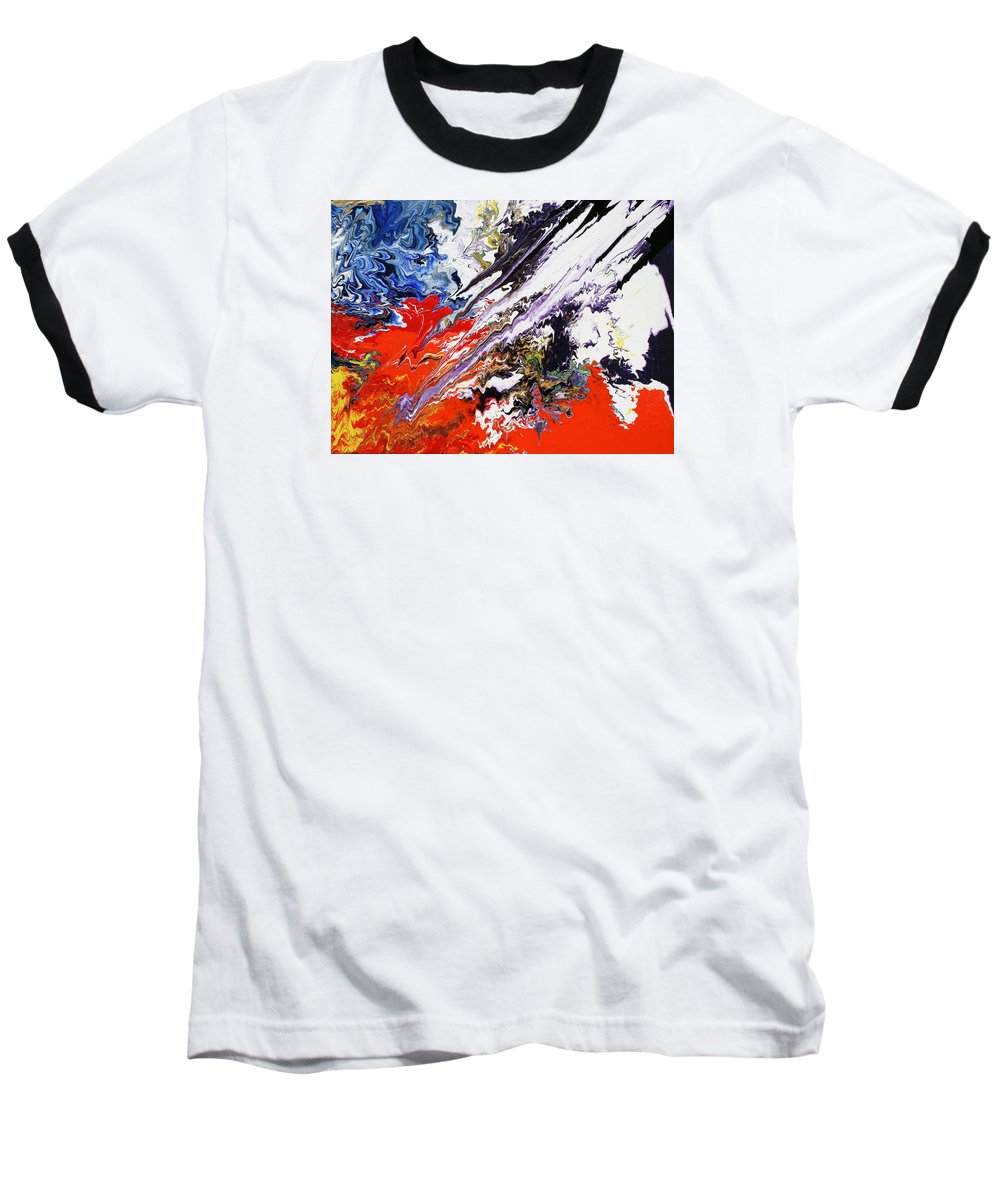 Fusionart Baseball T-Shirt featuring the painting Genesis by Ralph White