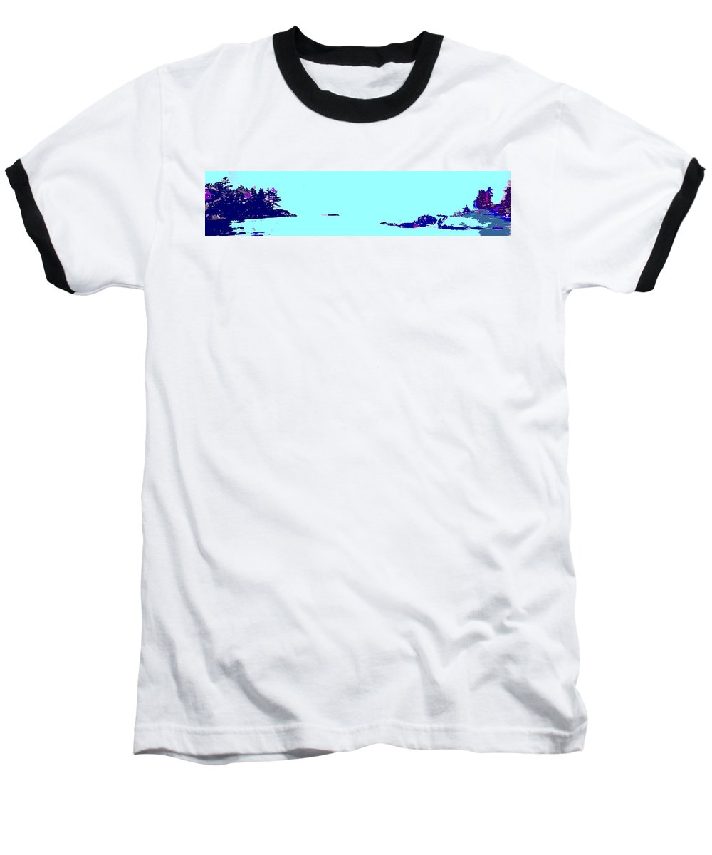 Baseball T-Shirt featuring the photograph Georgian Bay Blue by Ian MacDonald