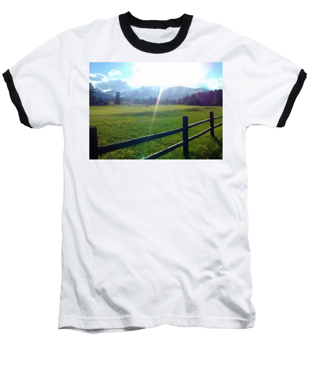 Golf course sun rays ringer t shirt for sale by eric fellegy for Golf t shirts for sale