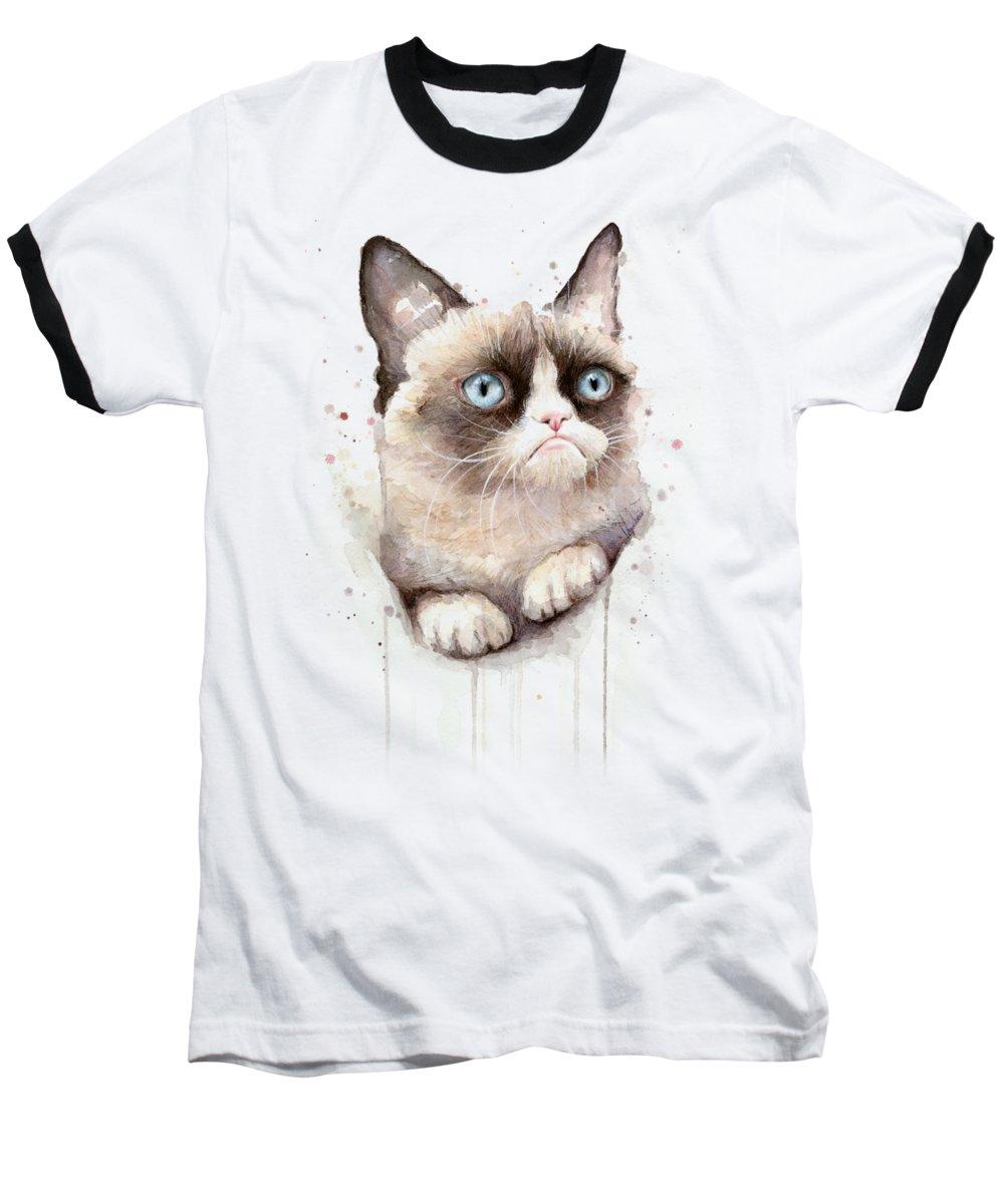 Watercolor Pet Portraits Baseball T-Shirts