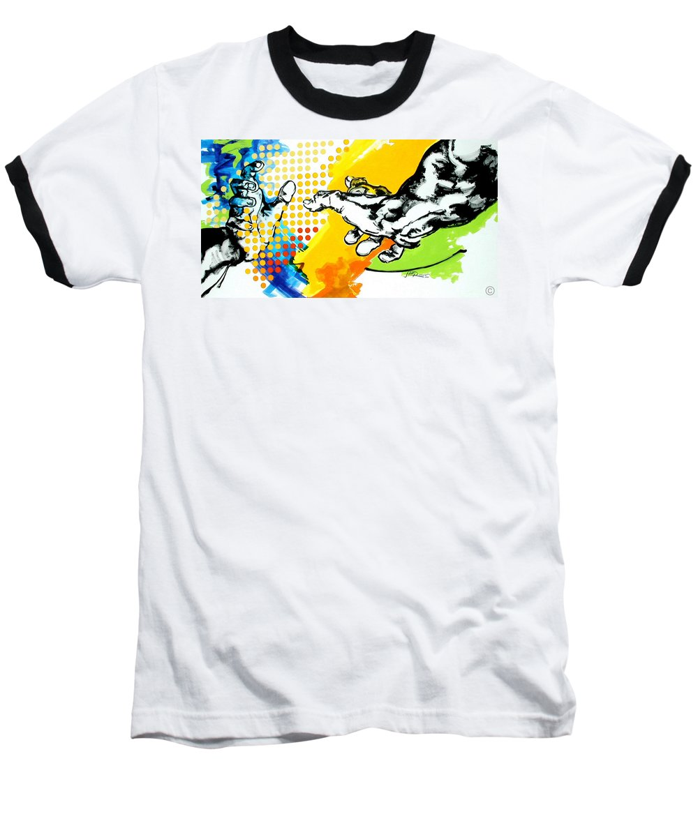 Classic Baseball T-Shirt featuring the painting Hands by Jean Pierre Rousselet