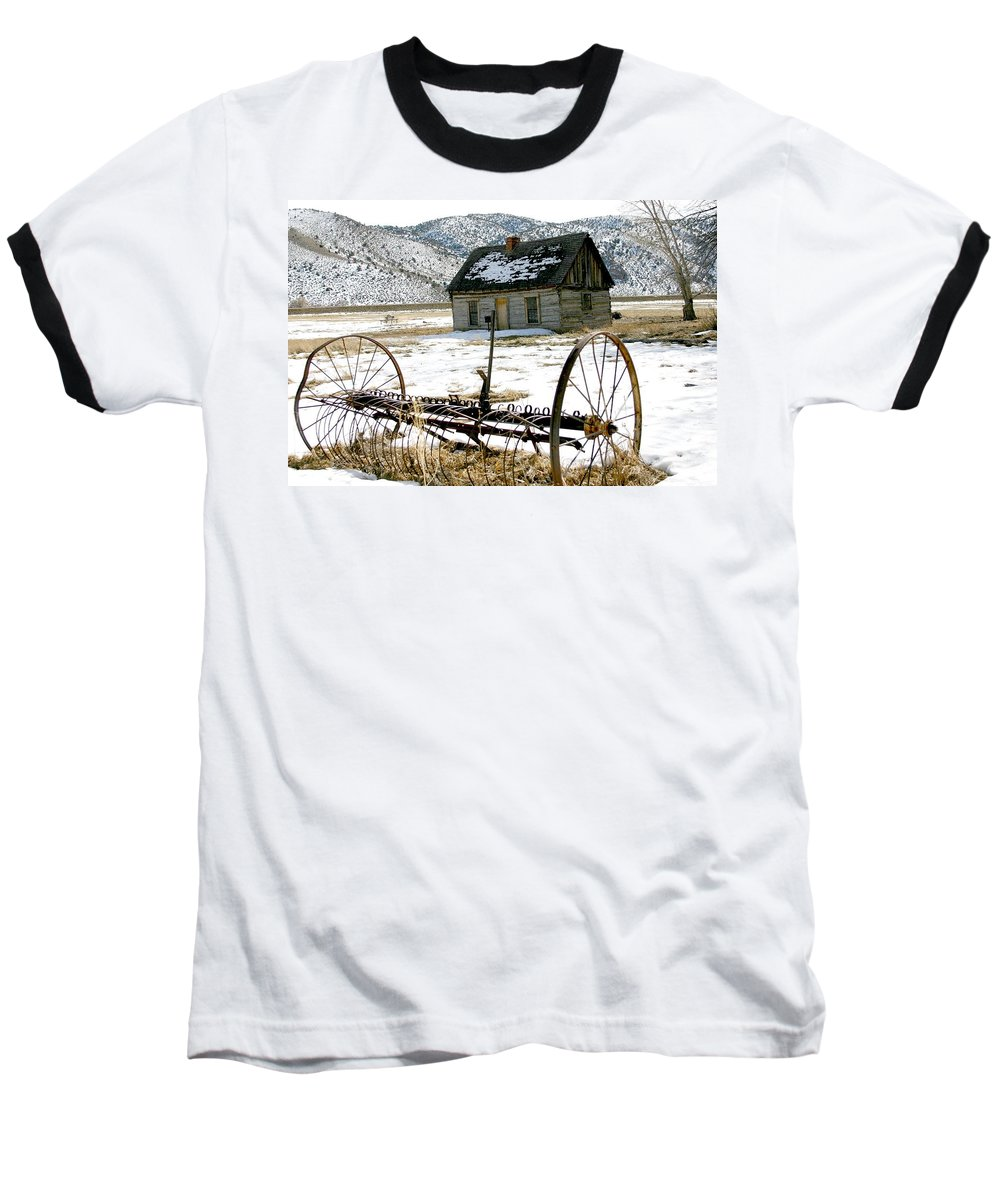 Utah Baseball T-Shirt featuring the photograph Hay Rake At Butch Cassidy by Nelson Strong