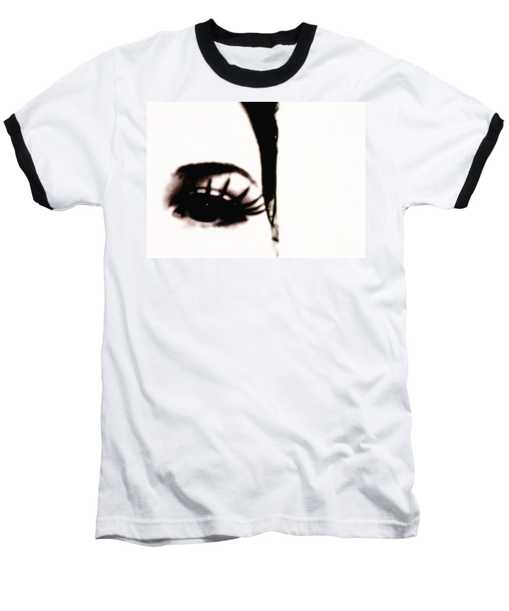 Eye Baseball T-Shirt featuring the photograph Hello by Amanda Barcon