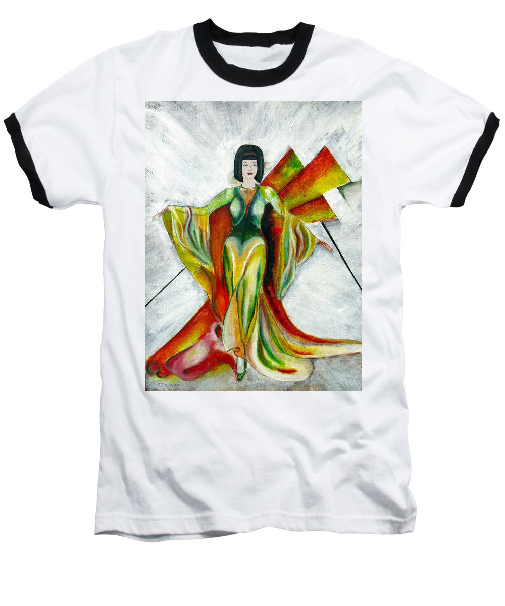 Dress Baseball T-Shirt featuring the painting Here Comes The Sun by Tom Conway