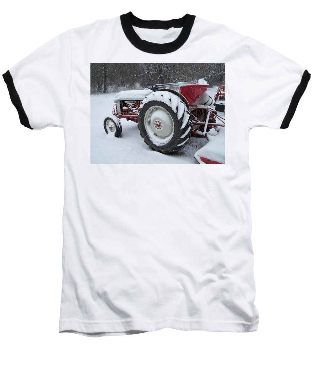 Tractor Baseball T-Shirt featuring the photograph Herman by Gale Cochran-Smith