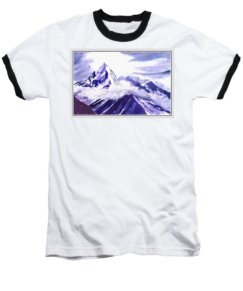 Landscape Baseball T-Shirt featuring the painting Himalaya by Anil Nene