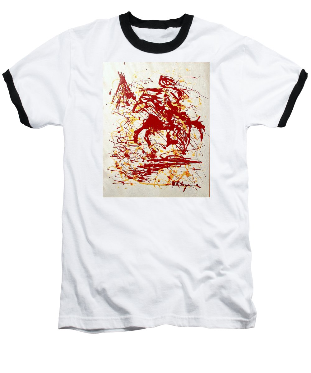 Indian Baseball T-Shirt featuring the painting History In Blood by J R Seymour