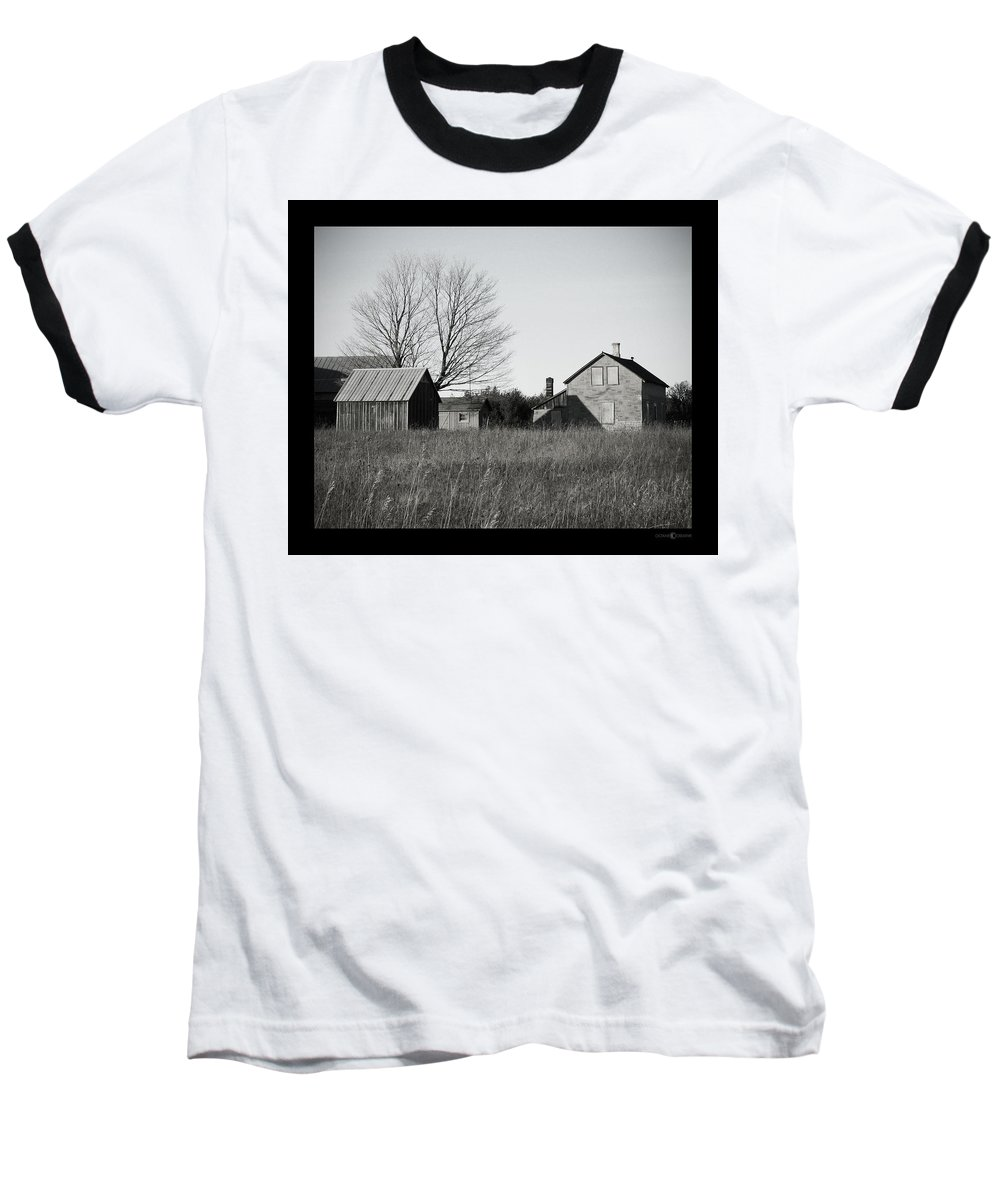 Deserted Baseball T-Shirt featuring the photograph Homestead by Tim Nyberg